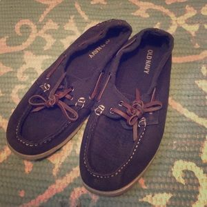 Navy loafers